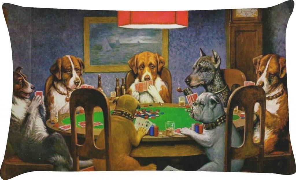 نقاشی سگ های پوکر باز