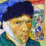 نقاشی خودنگاره با گوش باند پیچی شده