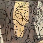 تابلو نقاش و مدلش اثر پیکاسو
