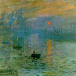 نقاشی طلوع آفتاب از کلود مونه
